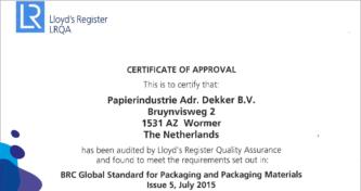 BRC Global Standard Packaging And Packaging Materials