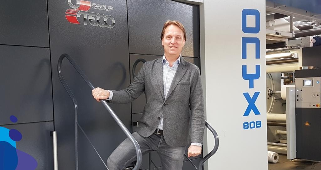 Nieuwe Flexo Drukmachine Bij Papierindustrie Adriaan Dekker